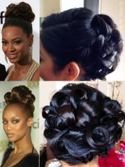 wedding pin curl updo inspired