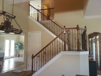 Wrought Iron Stair Railing Styles For Trendy Staircase