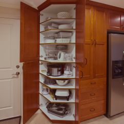 Kitchen Cabinet Storage Solutions Unfinished Discount Cabinets Angled Pantry Anyone Esthetics And Functionality All In