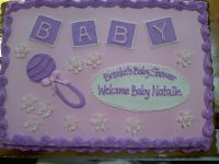 baby girl shower sheet cakes - Google Search | baby shower ...