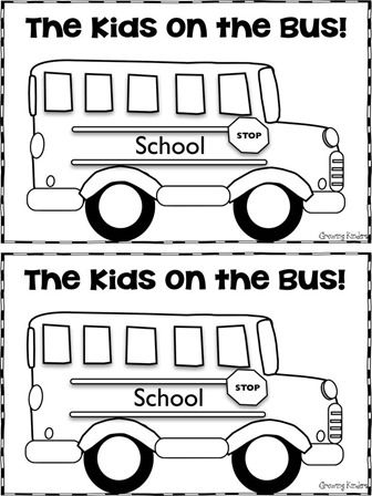 Use this to make a book about the kids that go on the bus