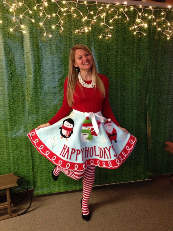 Ugly Holiday Sweater Party Idea Make Tree Skirt