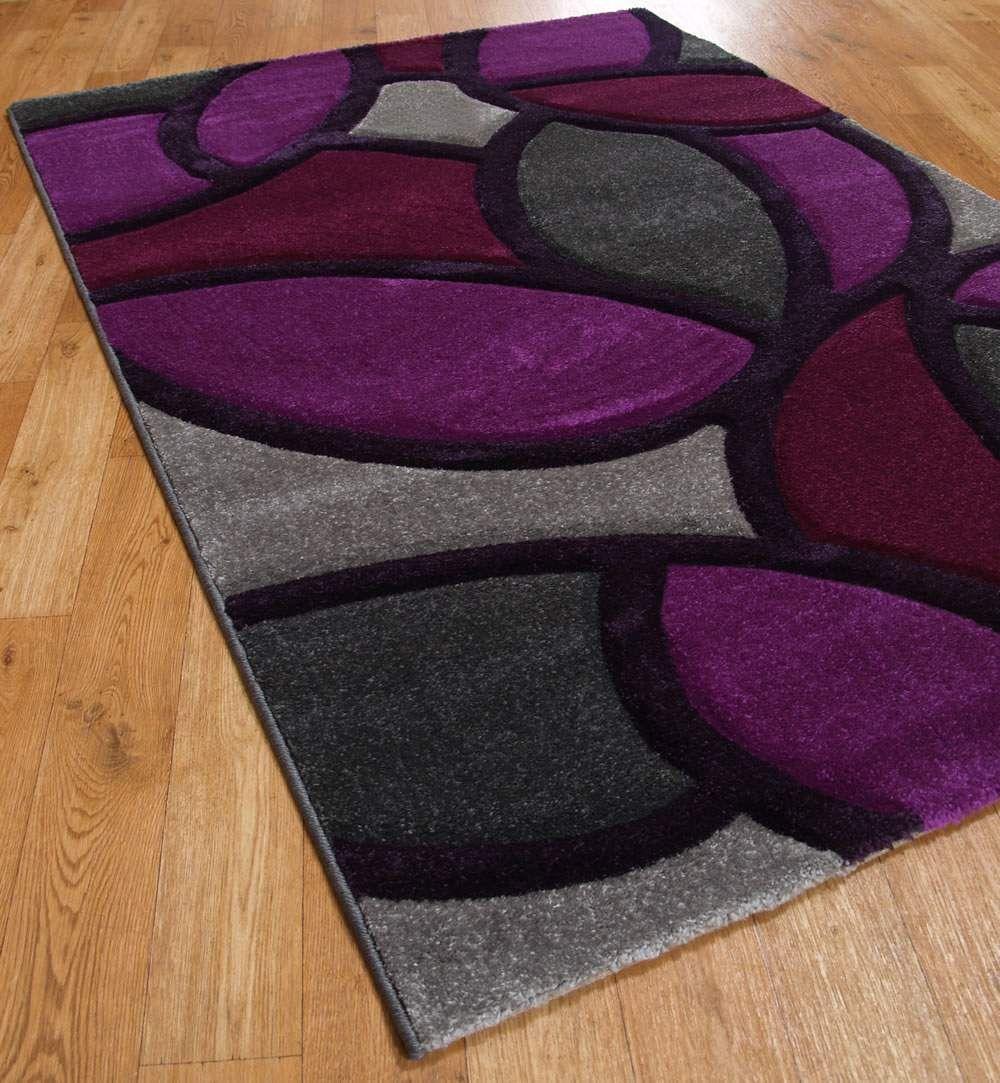 Black and Purple Bathroom Rugs  Funky Paving Rugs in