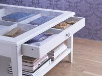 LIATORP Coffee table, white, glass | Liatorp, Organizing ...