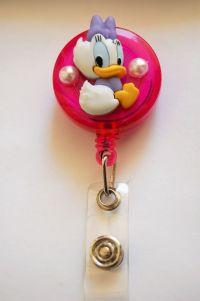 ID 3D Reel Retractable Badge Holder Disney Daisy Duck # ...