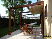Retractable Pergola Awning Best Quality Design Red Cherry ...