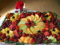 Decorative foiled, cookie sheet/fruit platter! All to