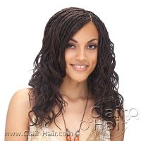 Micro Braids cute and curly   Beautiful braids, Hair style ...