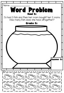 Addition and Subtraction Picture Word Problem Printable