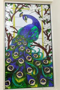 glass painting design of peacock - Google Search | classic ...