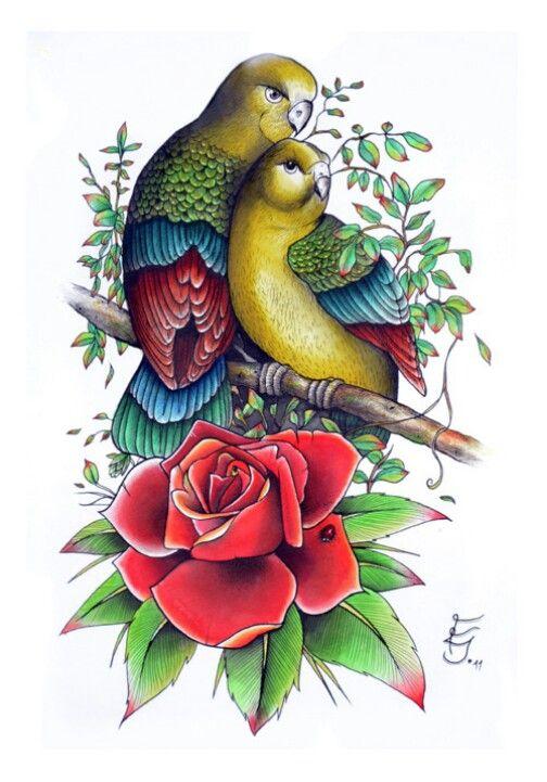 love birds tattoo tattoos