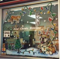 Hand Drawn Window Paintings, Christmas Window Painting ...