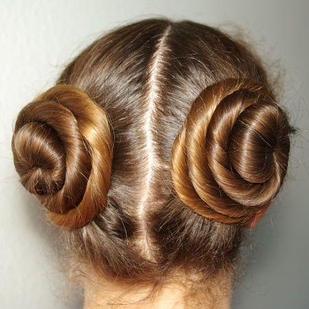 4 Double Cinnabun Princess Leia Doppelter Gedrehter Knoten