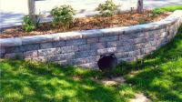 Driveway Culvert Paver Retaining Wall and Landscaping