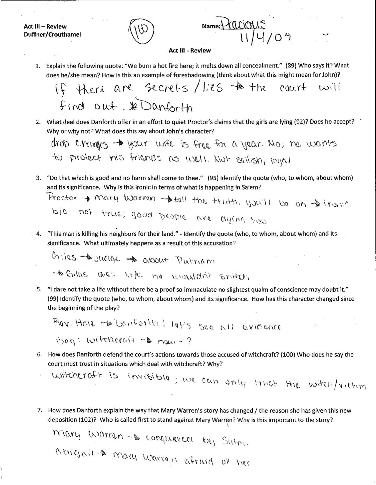 worksheet Character Review Worksheet the crucible worksheet answers free worksheets library download unit pl n english
