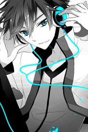 anime > guy headphones