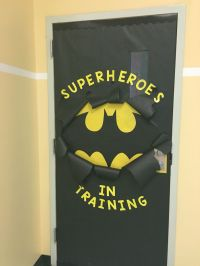 Batman Inspired classroom door! | Classroom Design Ideas ...