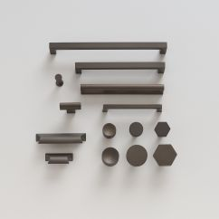Brass Hardware Kitchen Oval Tables Mid Century Knob Matte Bronze