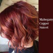 mahogany copper sunset hair