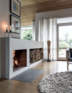 Fireplace style design ideas also styles logs storage and decoration rh pinterest