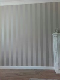 Laura ashley truffle stripe wallpaper | Living room ...