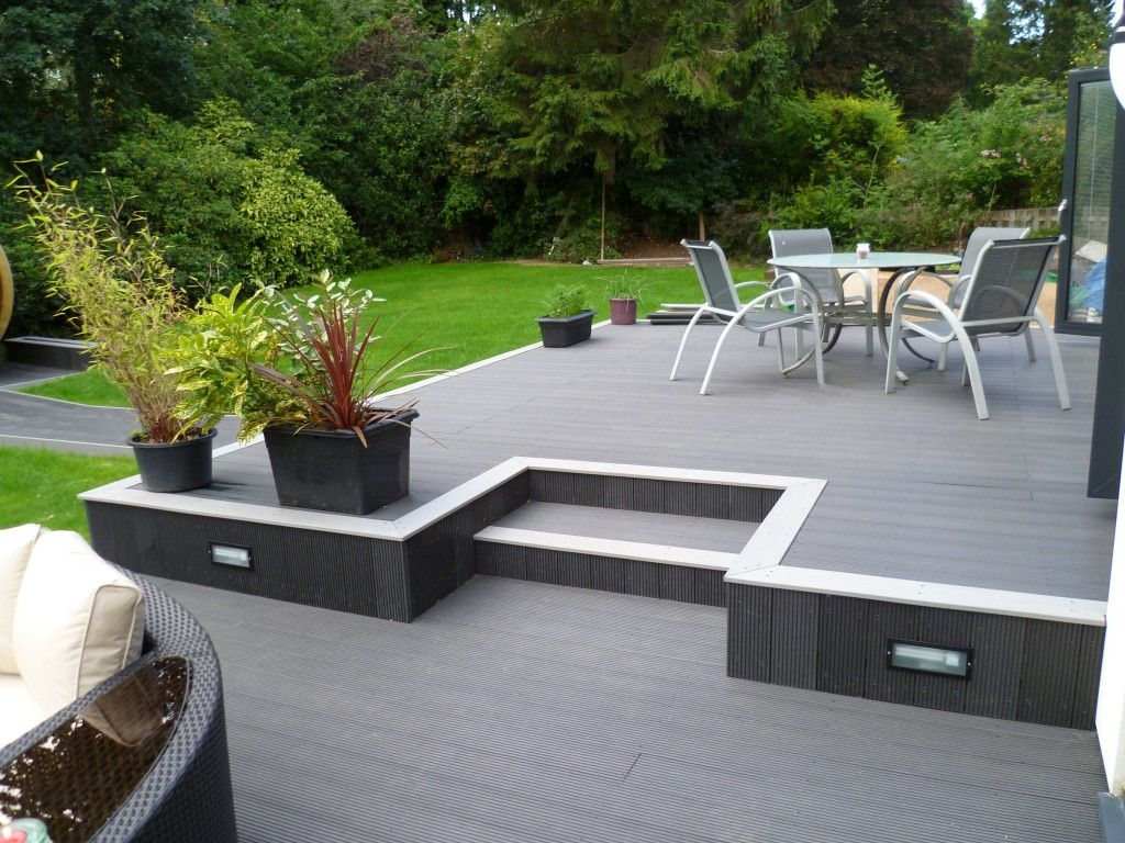 Pool Wood Plastic Decking Materials In The UK Artificial Wood