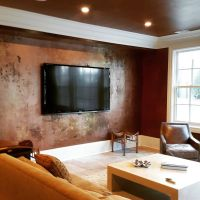 Accent Wall in a Metallic Paint Layer Finish | Modern ...