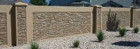 Residential Concrete block fence forms | Decorative ...