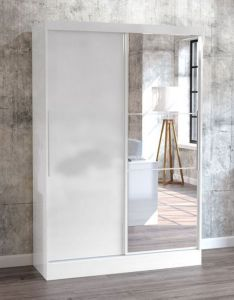 Links high gloss white sliding door wardrobe with mirror also rh pinterest