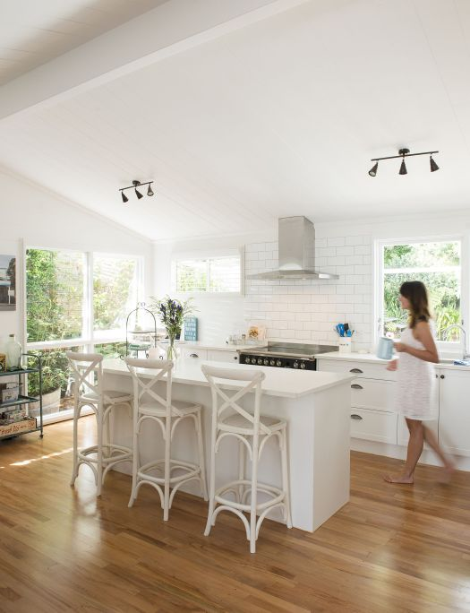 An Original Two Bedroom Lockwood Home Gets The White Paint Treatment Homes To Love