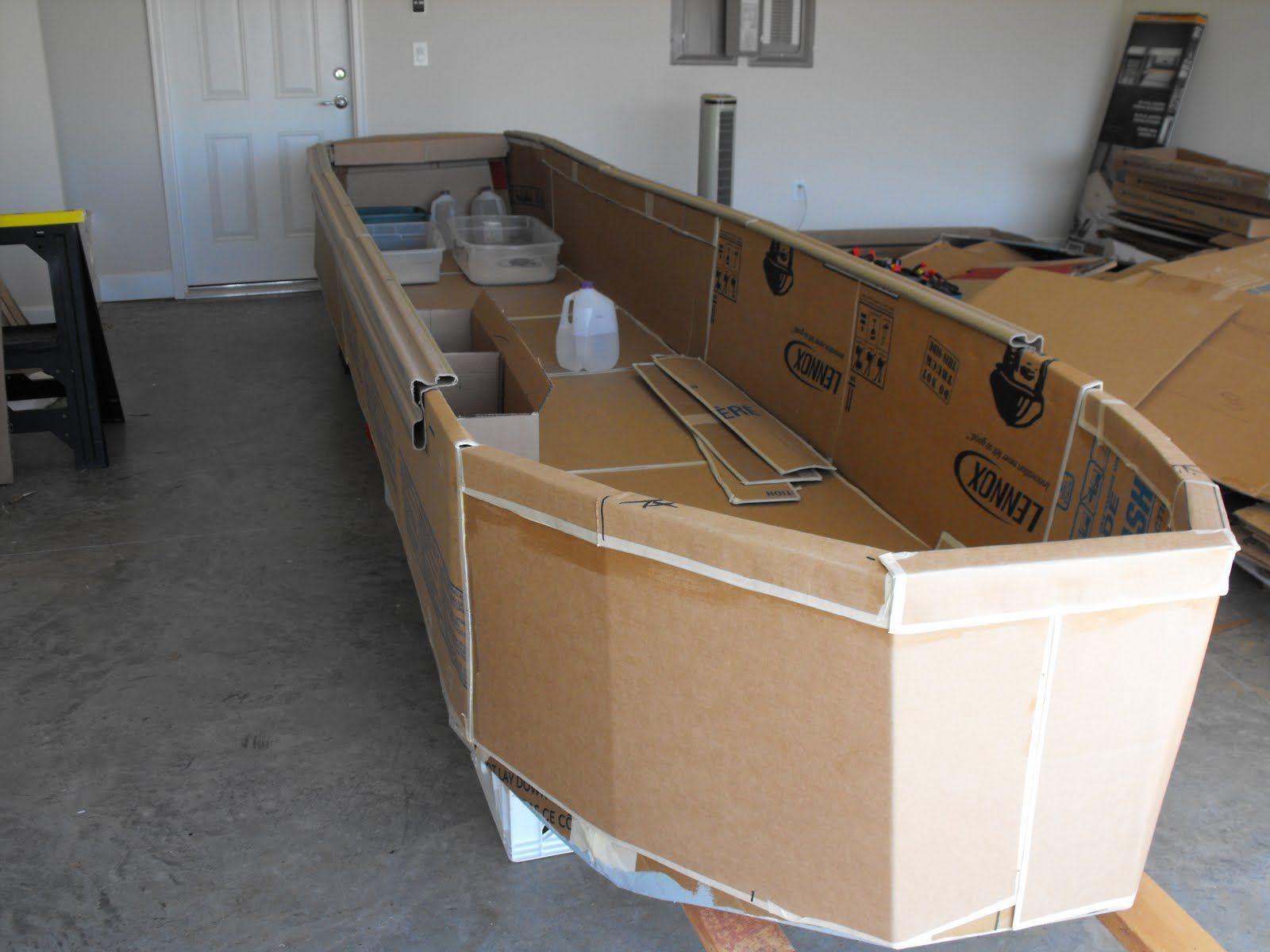 Cardboard Race Boat Box