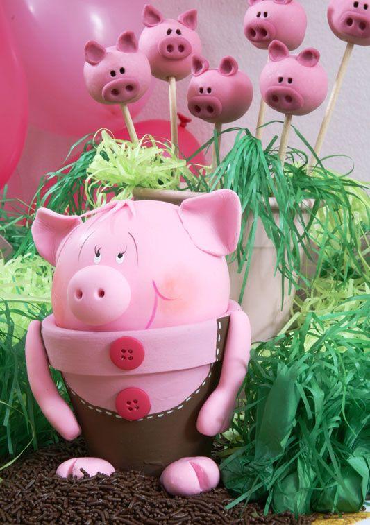 DIY Garden Decor Idea Cute Piggy Flower Pot Clay Diy