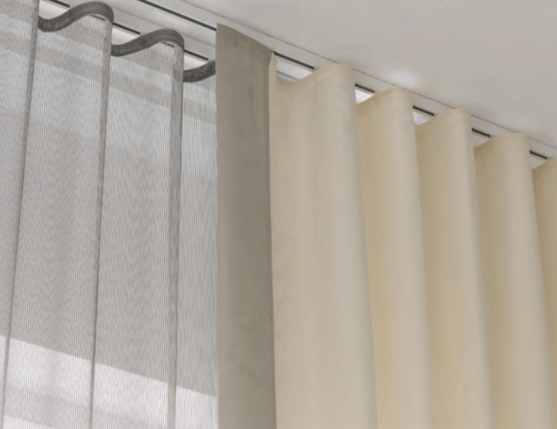 ceiling curtain track  Google Search  house  Pinterest  Ceiling curtain track Ceiling