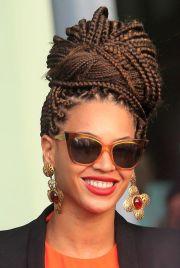 trendy black braided updos