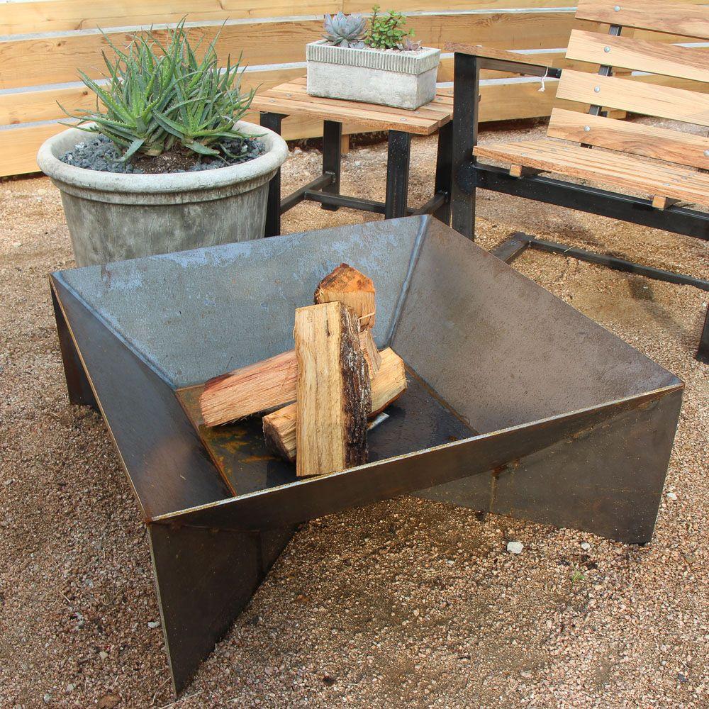 40 Backyard Fire Pit Ideas  Steel fire pit Steel and