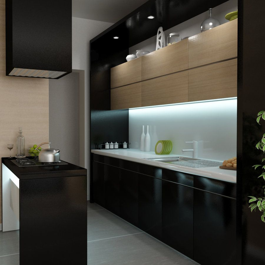 Awesome Modern Black Kitchen Cabinets Designs Ideas Extraordinary