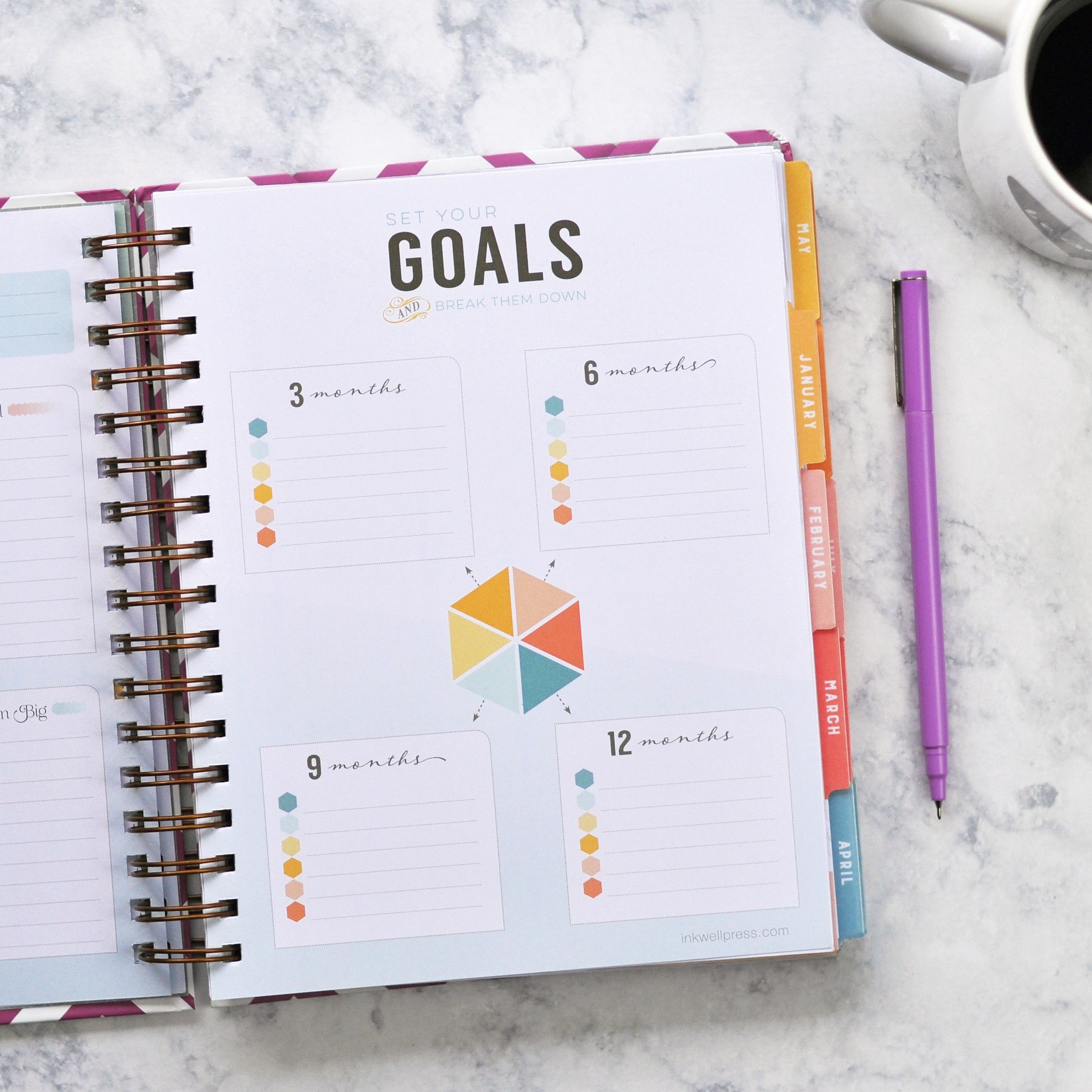 Goal Setting In A Weekly Planner