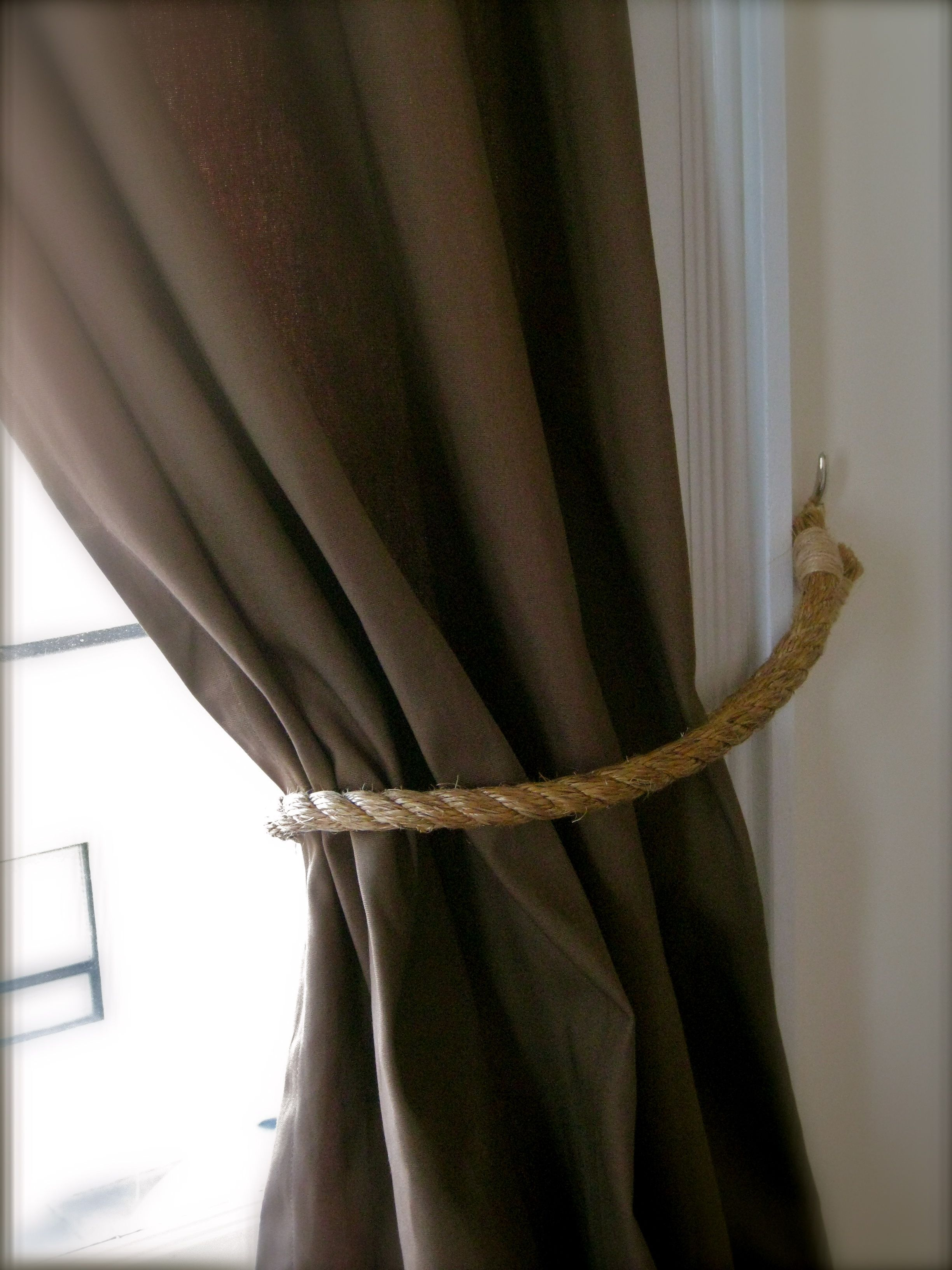 Curtain hardware tiebacks - Curtain Tie Backs Diy Followed Their Careful Instructions And