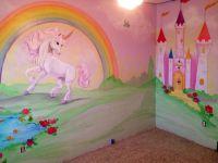 rainbow unicorn toadstool mural - Google Search | Girls ...
