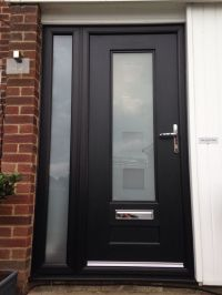 Again black very popular colour for front doors, very ...
