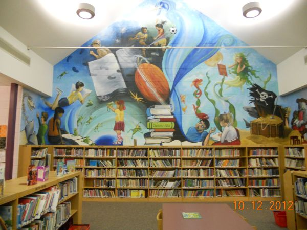 Middle School Library Murals Mural In