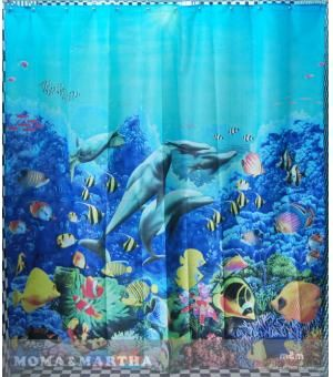 18 6 Essential Home Decorative Dolphin Shower Curtain Fabric