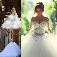 white and crystal wedding dress - Google Search | Wedding ...