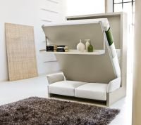 Bedroom: Wall Bed Space Saving Furniture Also Shelves