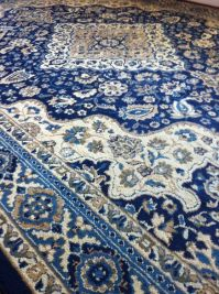 Blue Area Rug in Traditional Style. This would look good ...