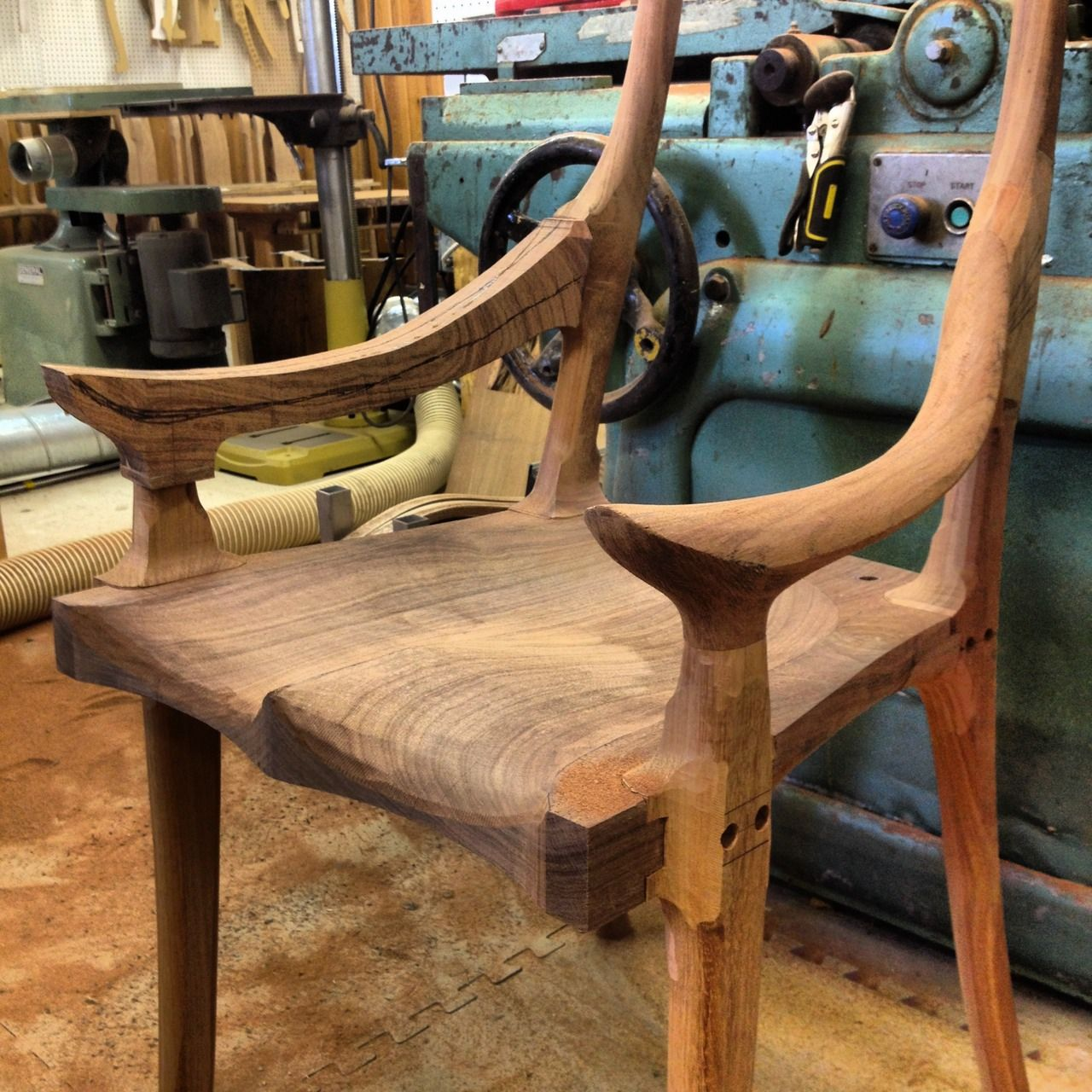 rocking chair fine woodworking corbusier lounge my instagram feed custom wooden