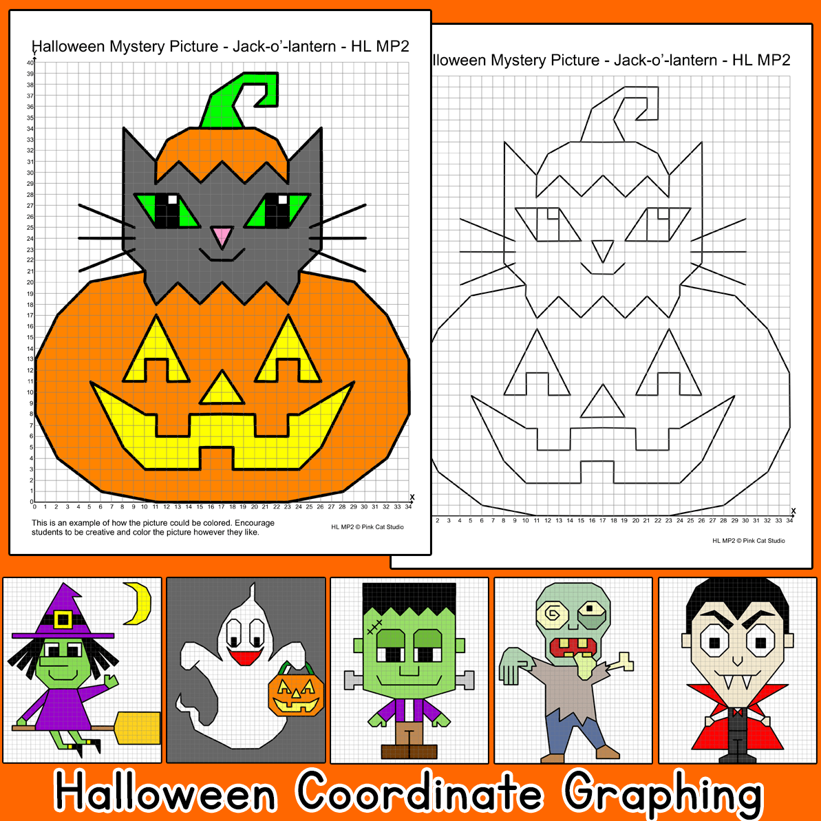 Practice Plotting Ordered Pairs With These Fun Halloween