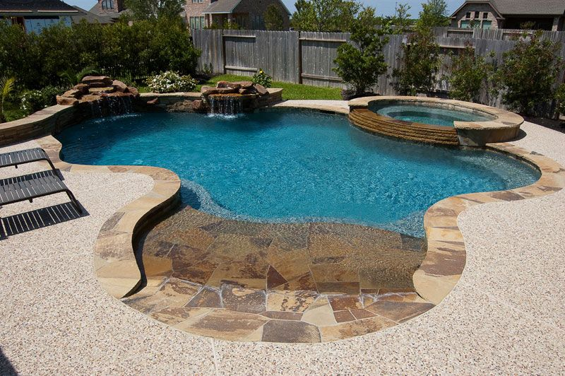 Beach Entry Swimming Pools