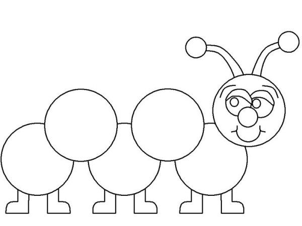 Easy to Make printable caterpillar coloring pages