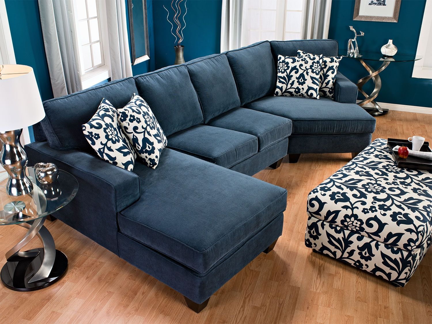 sofa with cuddler and chaise simmons upholstery living room furniture designed2b dax 3 piece chenille